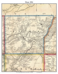 Hume, New York 1856 Old Town Map Custom Print - Allegany Co.