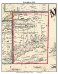 Independence, New York 1856 Old Town Map Custom Print - Allegany Co.