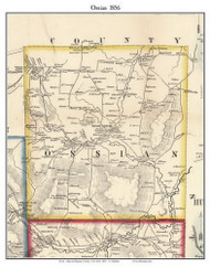 Ossian, New York 1856 Old Town Map Custom Print - Allegany Co.