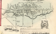 Angelica Village, New York 1856 Old Town Map Custom Print - Allegany Co.