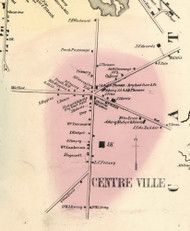 Centreville Village, New York 1856 Old Town Map Custom Print - Allegany Co.