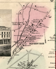 Richburg Village, New York 1856 Old Town Map Custom Print - Allegany Co.