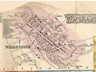 Wellsville Village, New York 1856 Old Town Map Custom Print - Allegany Co.