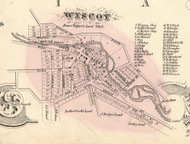 Wiscoy Village, New York 1856 Old Town Map Custom Print - Allegany Co.