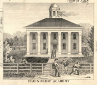 Friendship Academy, New York 1856 Old Town Map Custom Print - Allegany Co.