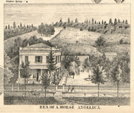 Residence of A. Morse, New York 1856 Old Town Map Custom Print - Allegany Co.