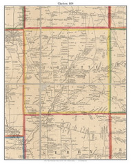 Charlotte, New York 1854 Old Town Map Custom Print - Chautauque Co.