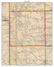 Gerry , New York 1854 Old Town Map Custom Print - Chautauque Co.