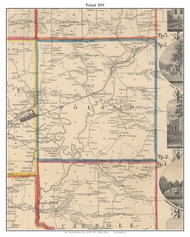 Poland, New York 1854 Old Town Map Custom Print - Chautauque Co.