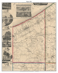 Ripley, New York 1854 Old Town Map Custom Print - Chautauque Co.