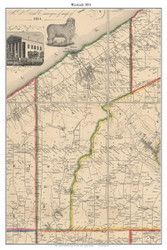 Westfield, New York 1854 Old Town Map Custom Print - Chautauque Co.