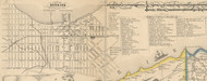 Dunkirk Village, New York 1854 Old Town Map Custom Print - Chautauque Co.