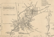 Forestville Village, New York 1854 Old Town Map Custom Print - Chautauque Co.