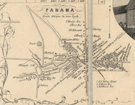 Panama Village, New York 1854 Old Town Map Custom Print - Chautauque Co.