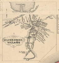 Silvercreek Village, New York 1854 Old Town Map Custom Print - Chautauque Co.