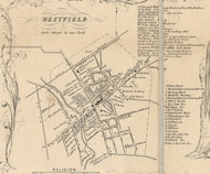 Westfield Village, New York 1854 Old Town Map Custom Print - Chautauque Co.