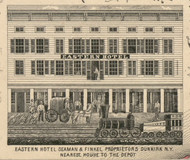 Eastern Hotel, New York 1854 Old Town Map Custom Print - Chautauque Co.
