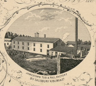Jamestown Tub & Pail Factory, New York 1854 Old Town Map Custom Print - Chautauque Co.