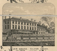 Lee House, New York 1854 Old Town Map Custom Print - Chautauque Co.