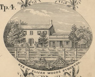 Res. of Elijah Woods, New York 1854 Old Town Map Custom Print - Chautauque Co.