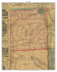 Dix, New York 1853 Old Town Map Custom Print - Chemung Co.
