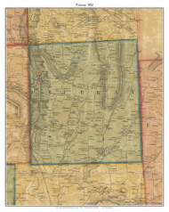 Veteran, New York 1853 Old Town Map Custom Print - Chemung Co.