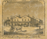 G.W. Bucks Hotel, New York 1853 Old Town Map Custom Print - Chemung Co.