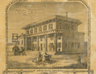 Davis Hotel, New York 1853 Old Town Map Custom Print - Chemung Co.