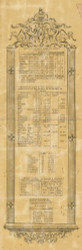 Population Statistics, New York 1853 Old Town Map Custom Print - Chemung Co.