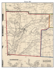 Greene, New York 1855 Old Town Map Custom Print - Chenango Co.