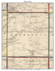 Pharsalia, New York 1855 Old Town Map Custom Print - Chenango Co.