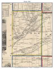 Pitcher, New York 1855 Old Town Map Custom Print - Chenango Co.