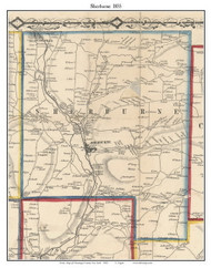 Sherburne, New York 1855 Old Town Map Custom Print - Chenango Co.