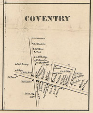 Coventry Village, New York 1855 Old Town Map Custom Print - Chenango Co.