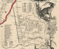 Sherburne Village, New York 1855 Old Town Map Custom Print - Chenango Co.