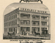 Chenango House, New York 1855 Old Town Map Custom Print - Chenango Co.