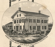 Harris House, New York 1855 Old Town Map Custom Print - Chenango Co.