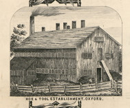 Oxford Hoe & Tool Factory, New York 1855 Old Town Map Custom Print - Chenango Co.
