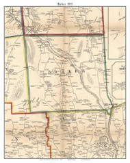 Barker, New York 1855 Old Town Map Custom Print - Broome Co.