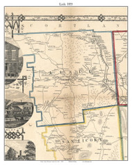 Lisle, New York 1855 Old Town Map Custom Print - Broome Co.