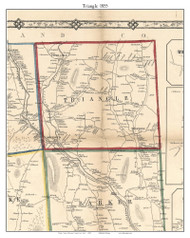 Triangle, New York 1855 Old Town Map Custom Print - Broome Co.