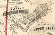 Chenango Forks Village, New York 1855 Old Town Map Custom Print - Broome Co.