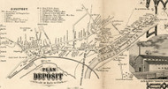 Deposit Village, New York 1855 Old Town Map Custom Print - Broome Co.