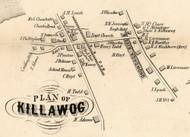 Killawog Village, New York 1855 Old Town Map Custom Print - Broome Co.