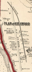 Kirkwood Village, New York 1855 Old Town Map Custom Print - Broome Co.