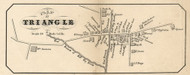 Triangle Village, New York 1855 Old Town Map Custom Print - Broome Co.
