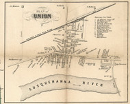 Union Village, New York 1855 Old Town Map Custom Print - Broome Co.
