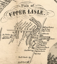 Upper Lisle Village, New York 1855 Old Town Map Custom Print - Broome Co.