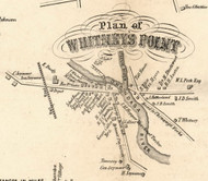 Whitneys Point Village, New York 1855 Old Town Map Custom Print - Broome Co.