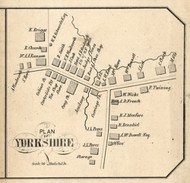Yorkshire Village, New York 1855 Old Town Map Custom Print - Broome Co.